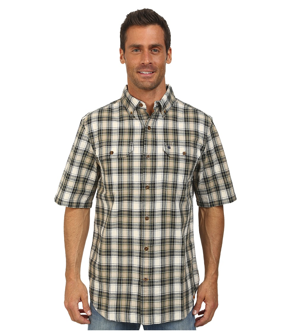 Carhartt - Fort Plaid S/S Shirt (Bronze Green) Men