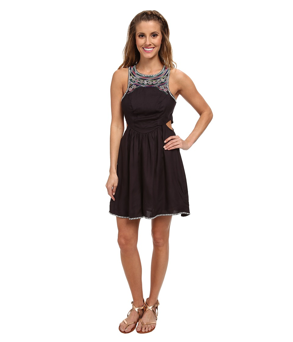 Billabong - Sol Shining Dress (Off Black) Women's Dress