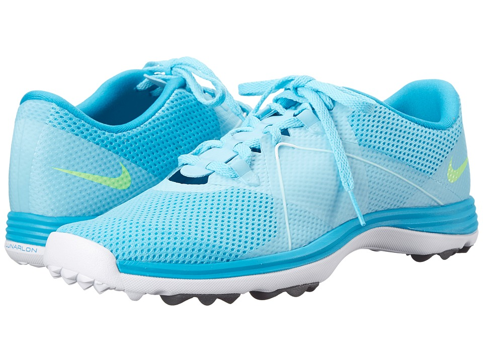 Nike Golf - Lunar Summerlite 2 (Clearwater/White/Blue Lagoon/Flash Lime) Women's Golf Shoes