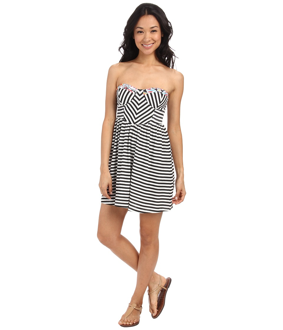 Billabong - Spread the News Stripe Dress (Black/White) Women
