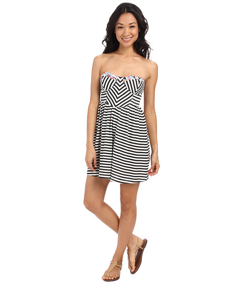 Billabong - Spread the News Stripe Dress (Black/White) Women's Dress