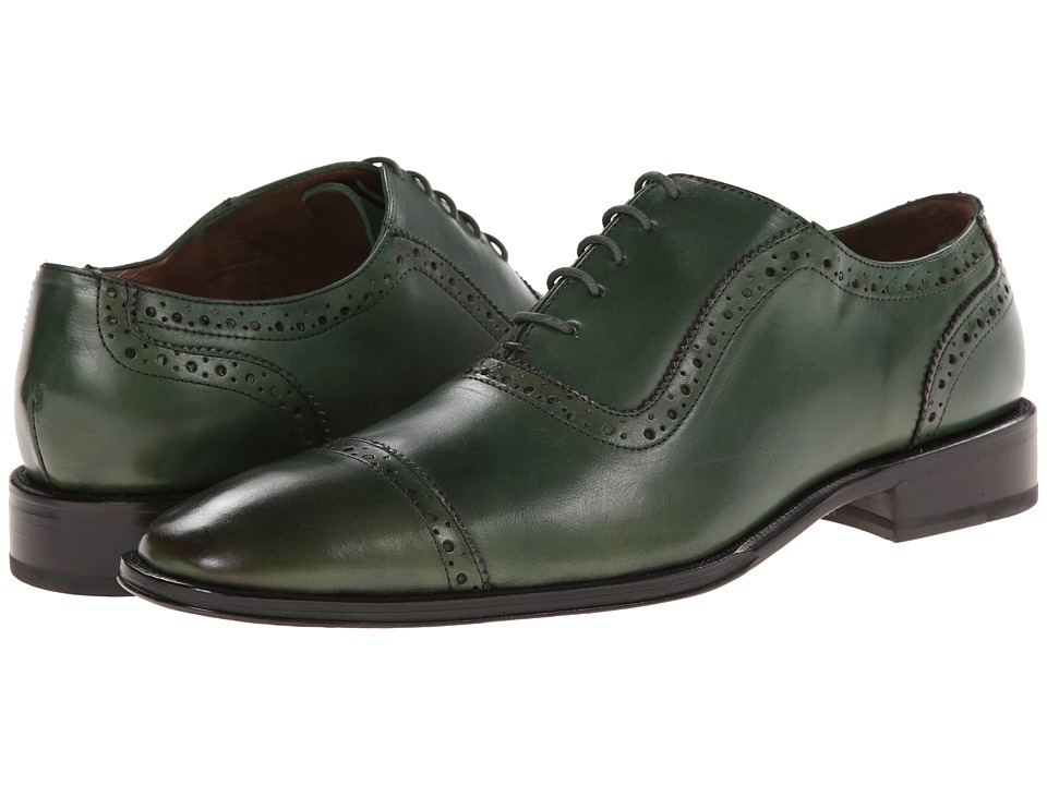 Messico - Galiano (Green Leather) Men's Flat Shoes