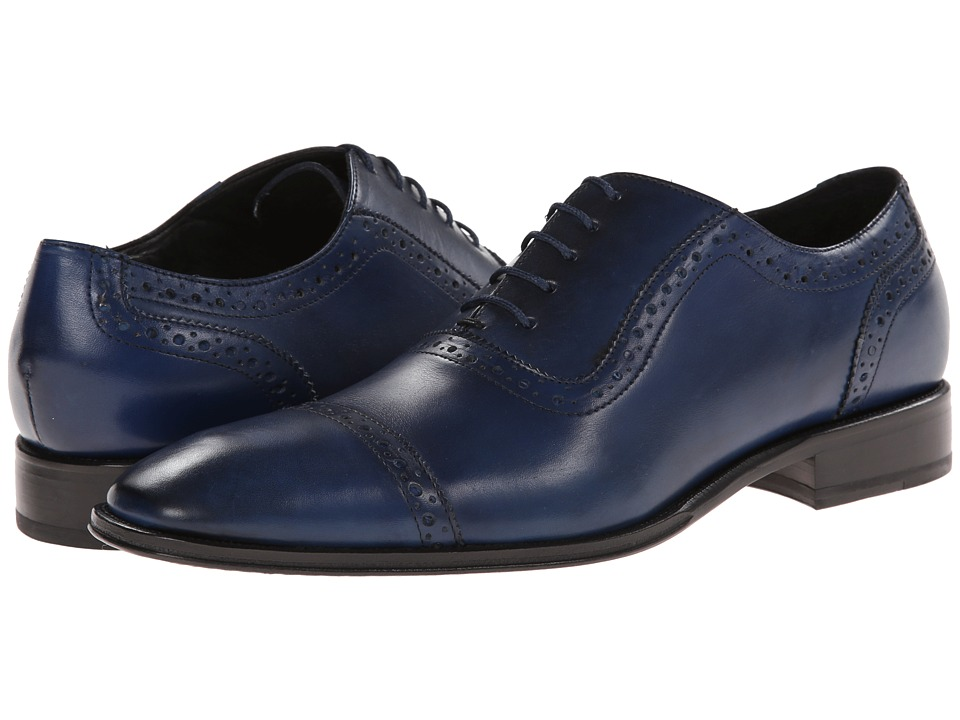 Messico - Galiano (Blue Leather) Men's Flat Shoes