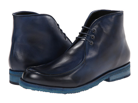Messico - Antigua Crepe (Navy Blue Leather) Men's Lace-up Boots