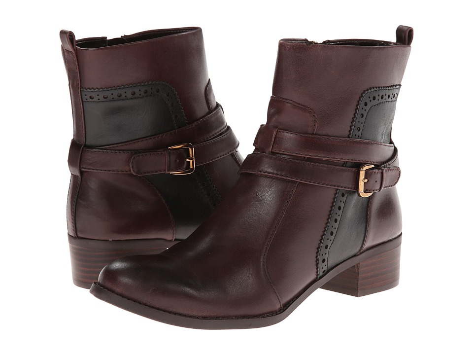 Circa Joan & David - Bruna (Dark Brown/Black Leather) Women's Pull-on Boots