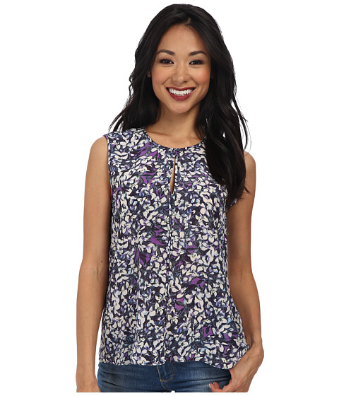Rebecca Taylor - Sleeveless Print Top (Violet) Women's Sleeveless