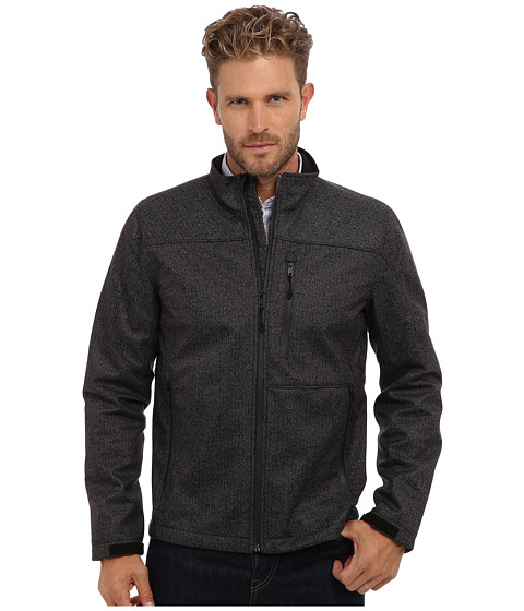 Vince Camuto - 27 Active Wool Touch Zip Front Jacket (Charcoal) Men