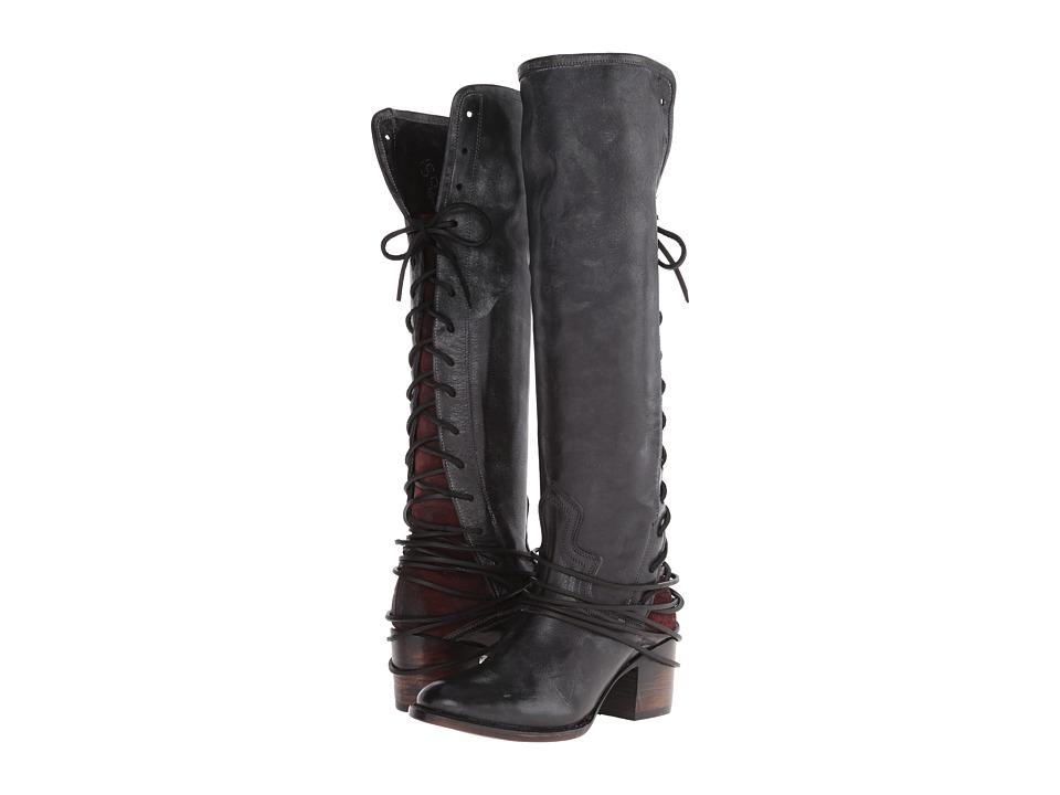 Freebird - Coal (Black) Cowboy Boots