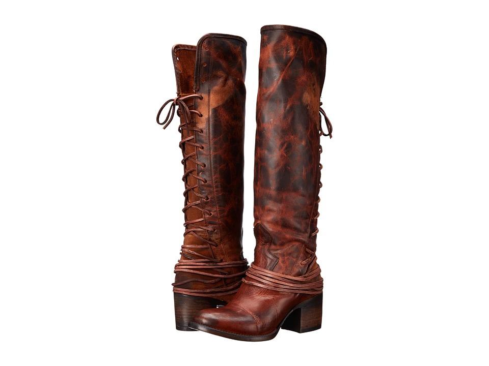 Freebird - Coal (Cognac) Cowboy Boots