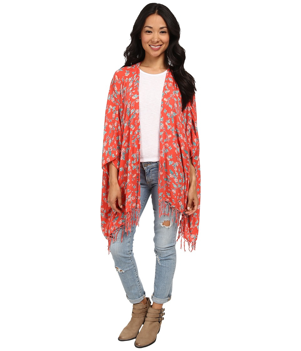 Billabong - Sandy Dreamz Cardigan (Hot Coral) Women