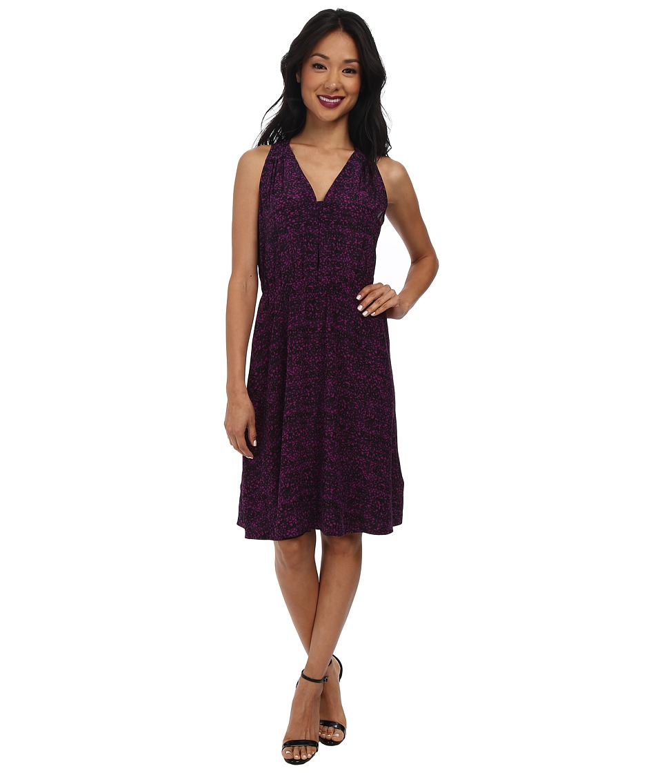 Rebecca Taylor - Sleeveless Ink Dot Dress (Magenta) Women's Dress