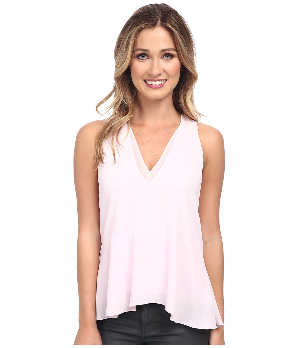 Rebecca Taylor - Sleeveless V-Neck Flippy Top (Cherry Blossom) Women's Sleeveless