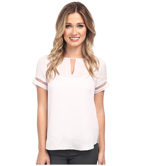 Rebecca Taylor - Short Sleeve Textured Top (Cherry Blossom) Women