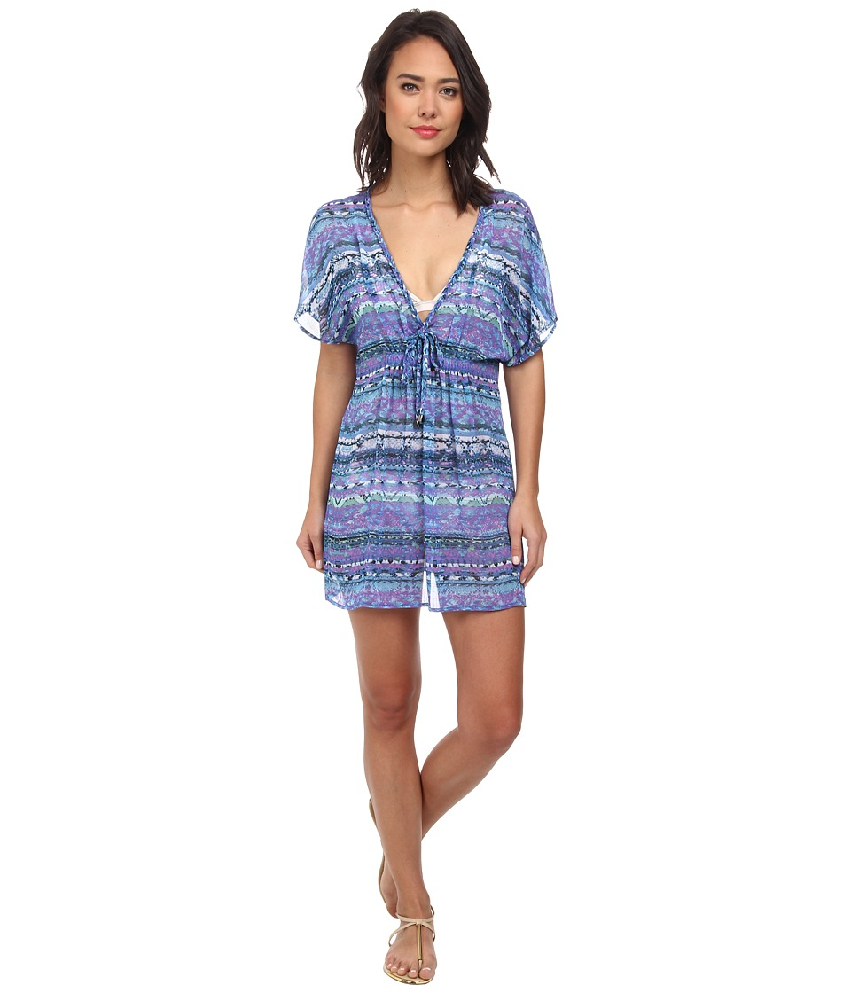 Badgley Mischka - Adia Braided Tunic Cover-Up (Multi) Women's Swimwear