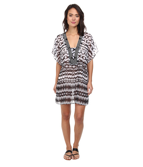 Badgley Mischka - Aliyah Beaded Tunic (Multi) Women's Swimwear