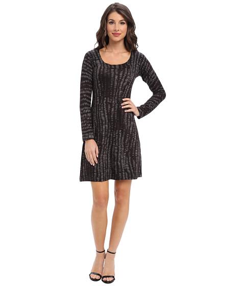 Nally & Millie - Scoopneck Sweater Dress (Black Multi) Women