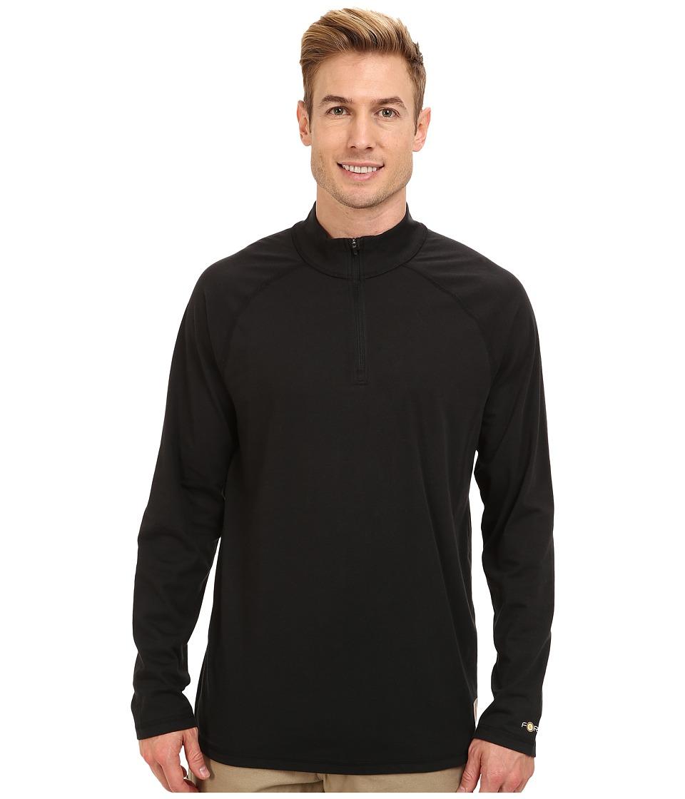 Carhartt - Force Cotton Delmont Quarter Zip (Black) Men