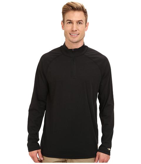 Carhartt - Force Cotton Delmont Quarter Zip (Black) Men's Long Sleeve Pullover