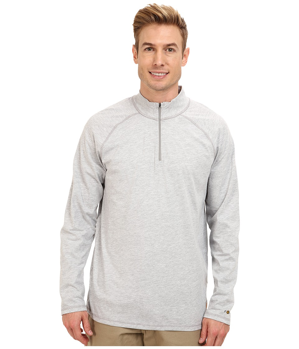 Carhartt - Force Cotton Delmont Quarter Zip (Heather Grey) Men's Long Sleeve Pullover