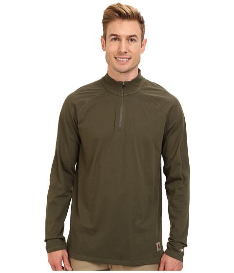 Carhartt - Force Cotton Delmont Quarter Zip (Moss) Men's Long Sleeve Pullover