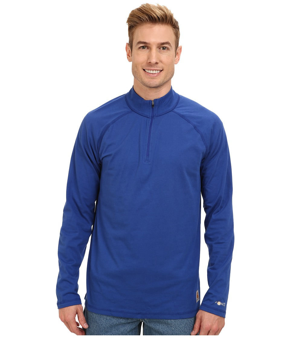 Carhartt - Force Cotton Delmont Quarter Zip (Nautical Blue) Men's Long Sleeve Pullover