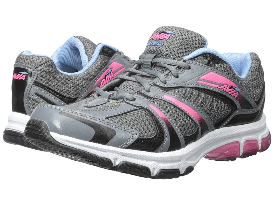 Avia - Avi-Circuit (Iron Grey/Black/Elite Blue/Hot Pink) Women's Shoes