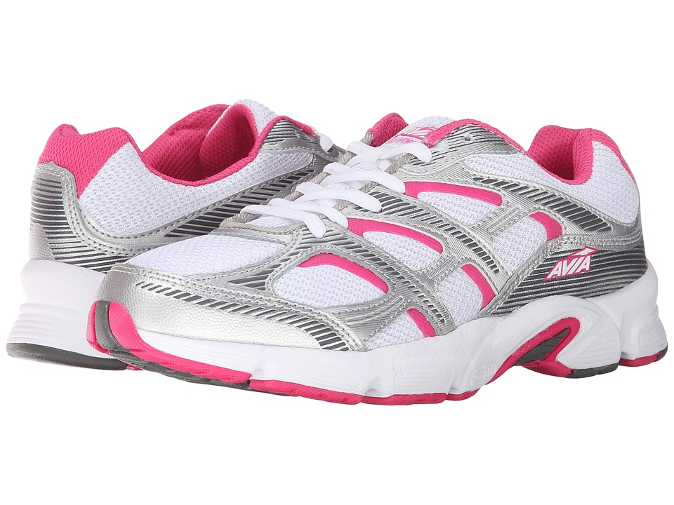 Avia Avi-Forte (White/Chrome Silver/Zuma Pink/Steel Grey) Women