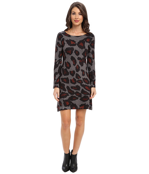Nally & Millie - Leopard Sweater Dress (Multi) Women's Dress