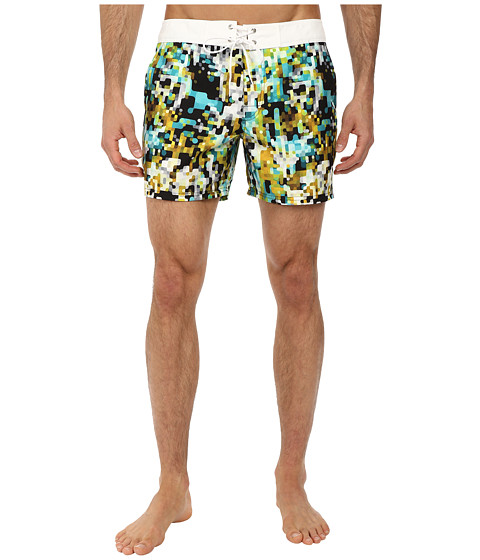 Mr.Turk - Malibu Board Short (Green) Men's Swimwear