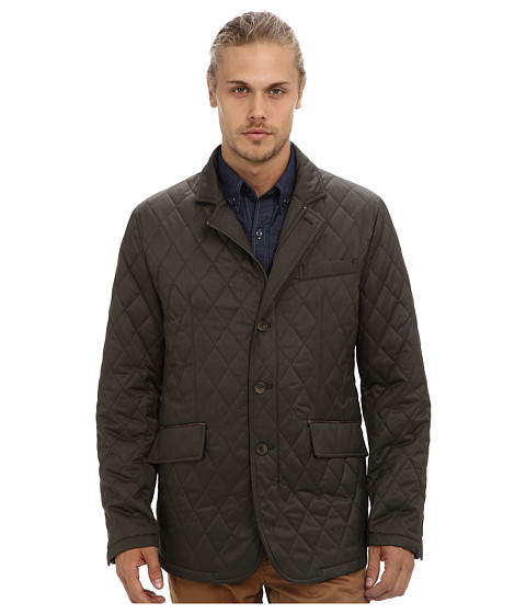 Report Collection - Quilted Jacket (Olive) Men's Coat
