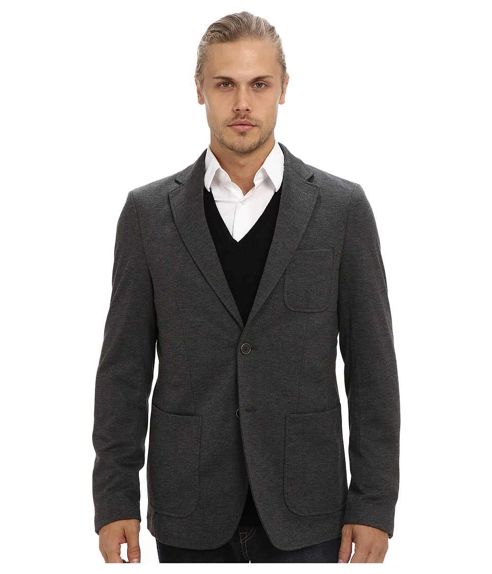 Report Collection - Jersey Blazer (Grey) Men's Jacket