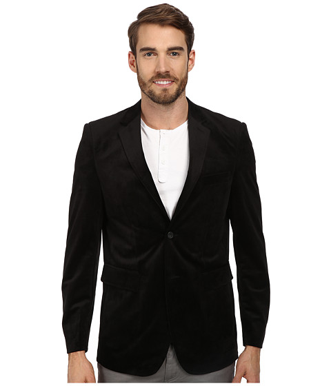 Report Collection - Velvet Blazer (Black) Men