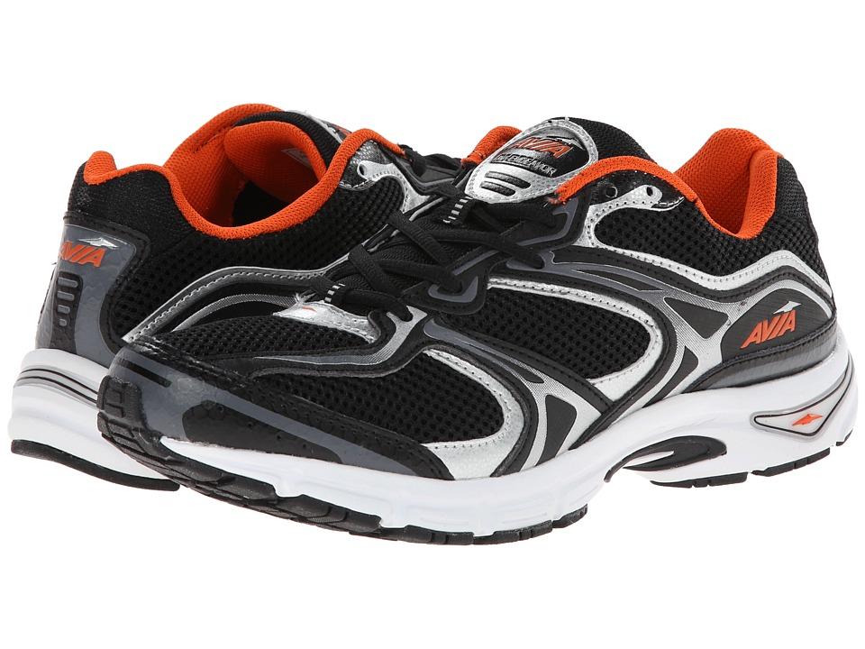 Avia - Avi-Endeavor (Black/Chrome Silver/Signal Orange) Men's Running Shoes