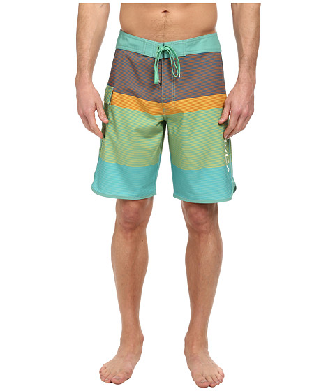 RVCA - Commander Trunk (Green Iguana) Men's Swimwear