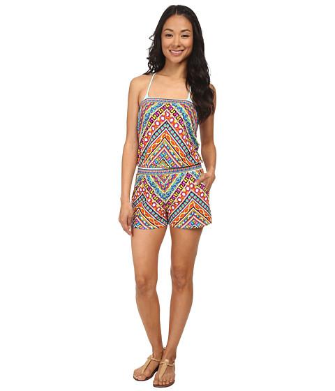 Trina Turk - Peruvian Stripe Covers Romper Cover-Up (Multi) Women