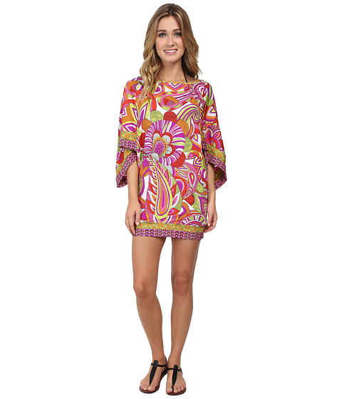 Trina Turk - Amazonia Covers Tunic Cover-Up (Berry) Women's Swimwear