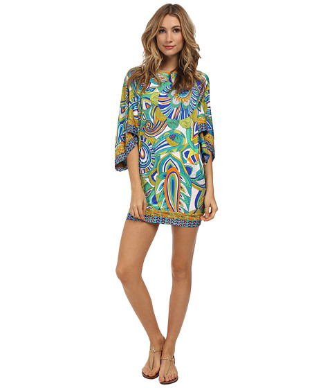 Trina Turk - Amazonia Covers Tunic Cover-Up (Indigo) Women