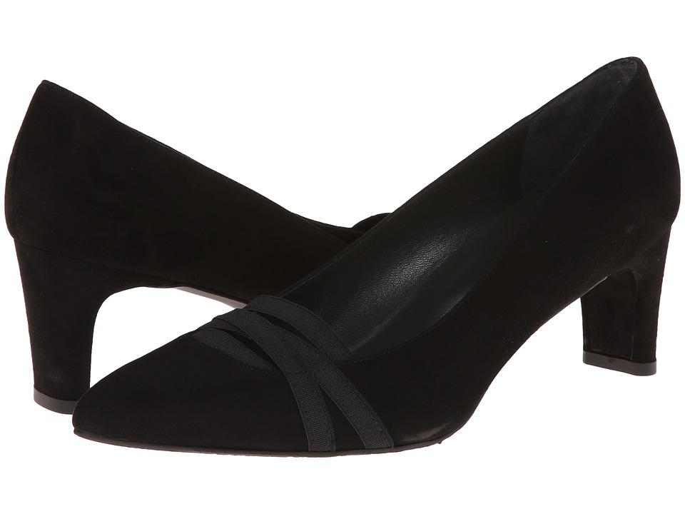 Stuart Weitzman Bandexsvelt (Black Suede) High Heels