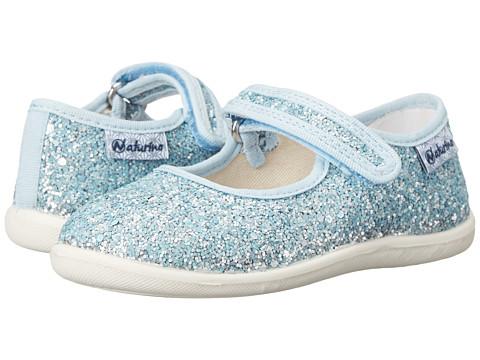 Naturino - 7703 USA SP15 (Toddler/Little Kid) (Blue Glitter 1) Girl's Shoes