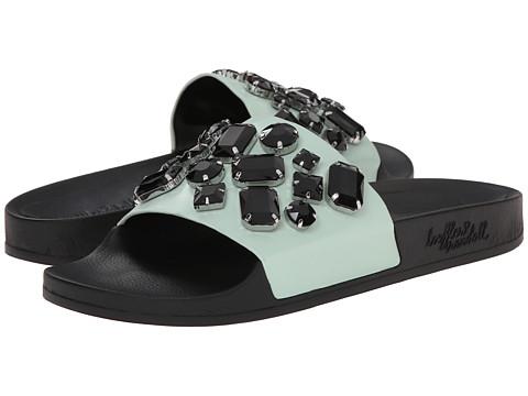 Loeffler Randall - Cat (Mint/Black Vachetta) Women's Slide Shoes