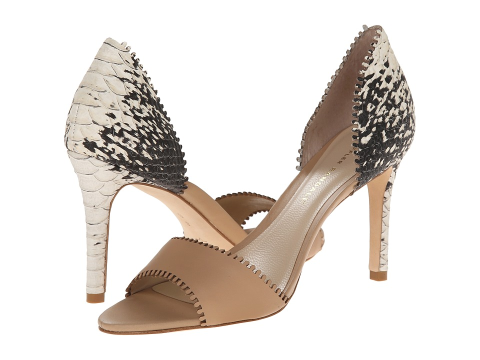 Loeffler Randall - Leora (Wheat/Black Cream Vachette/Embossed Anaconda) High Heels