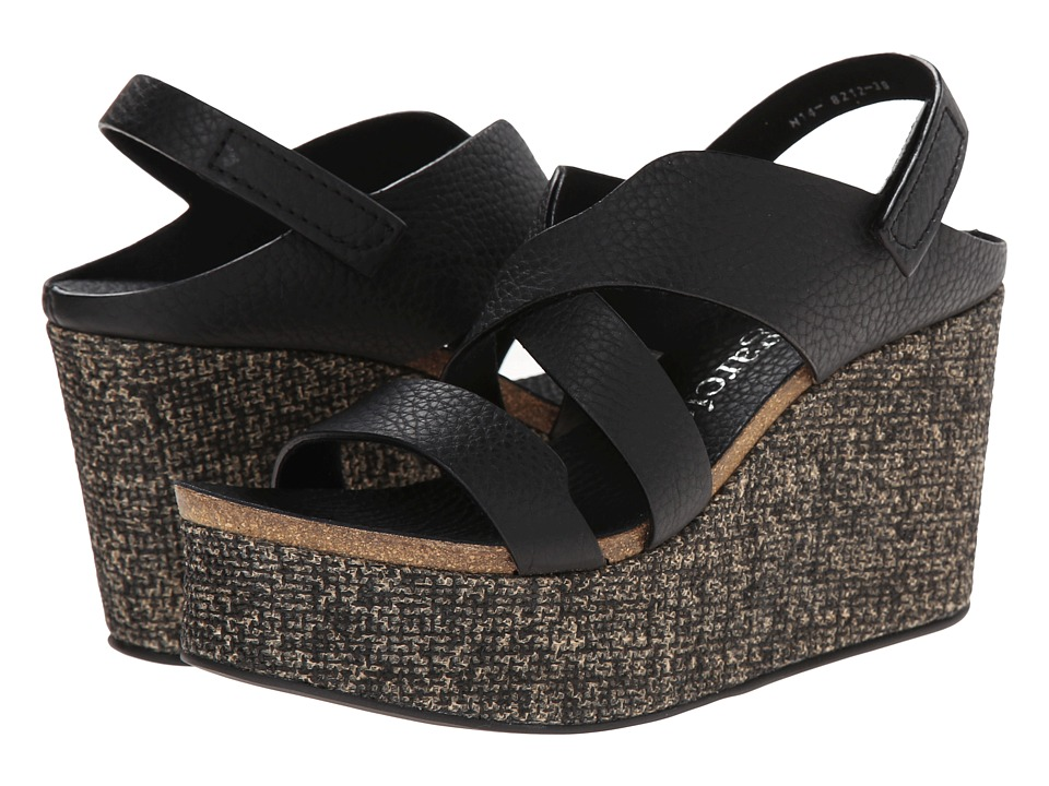 Pedro Garcia - Drew (Black Cervo) Women's Wedge Shoes
