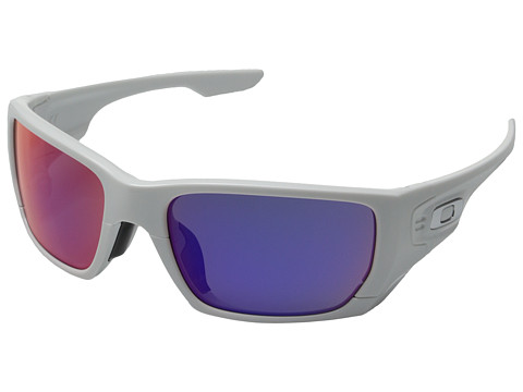 Oakley - Style Switch (Polished White/Red Iridium/Grey) Plastic Frame Sport Sunglasses