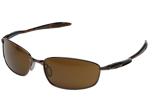 Oakley - Blender (Brown Chrome/Dark Bronze) Athletic Performance Sport Sunglasses