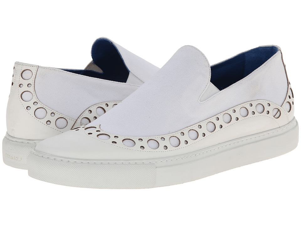 Viktor & Rolf - Wingtip Slip-on Sneaker (White) Men