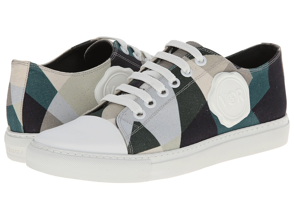 Viktor & Rolf - Printed Camo Sneaker with Logo (Camouflage) Men's Lace up casual Shoes