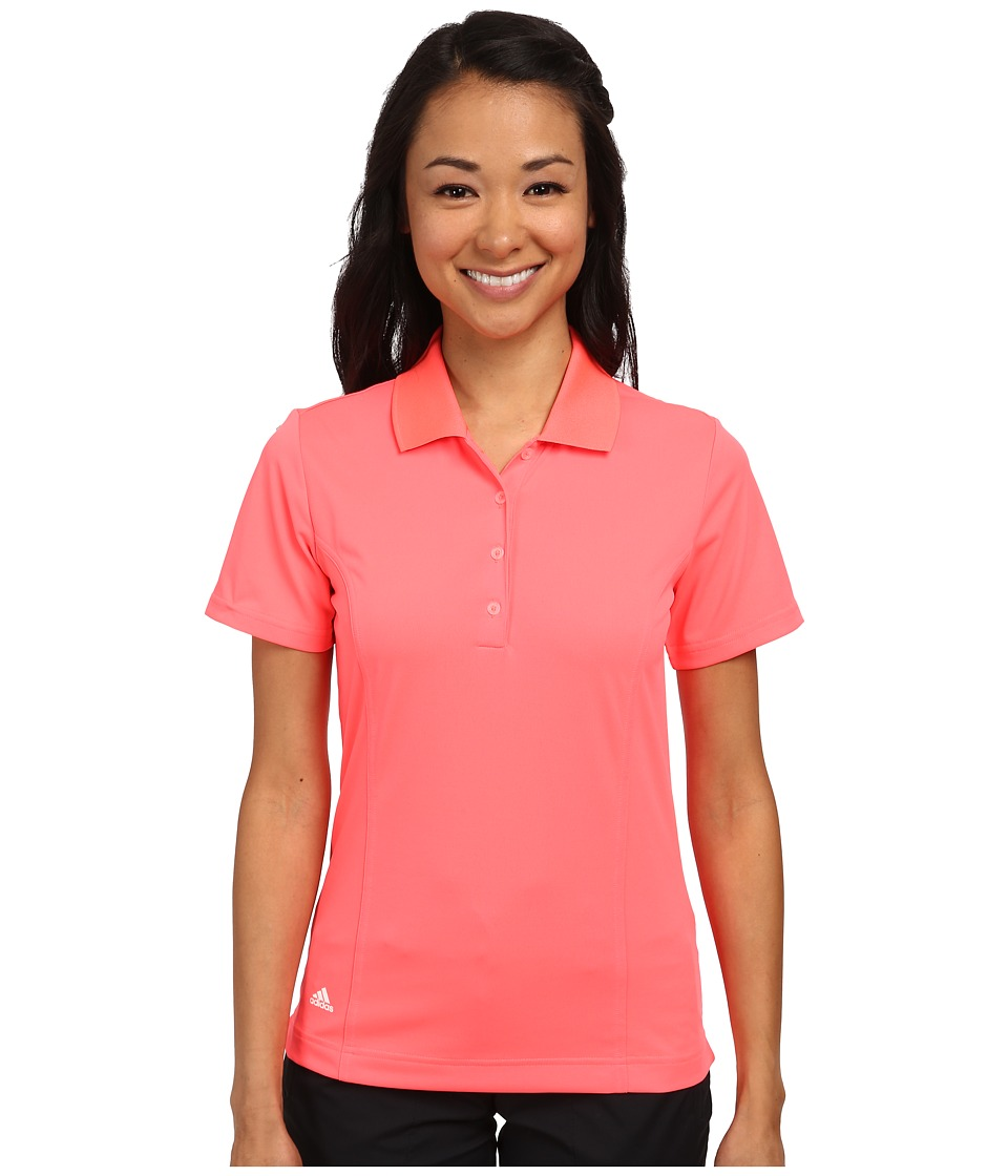 adidas Golf - Climalite Essentials Short Sleeve Solid Polo '15 (Flash Red/White) Women's Short Sleeve Knit