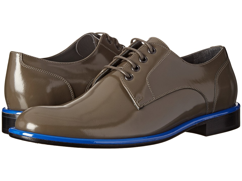 Viktor & Rolf - Brushed Leather Oxford with Colored Welt (Taupe/Blue Welt) Men's Lace up casual Shoes