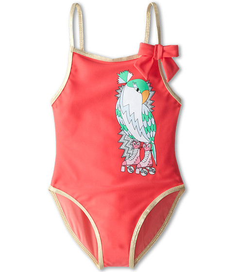 Little Marc Jacobs - Parrot Print One-Piece Swim Suit (Toddler/Little Kid) (Rose) Girl's Swimsuits One Piece
