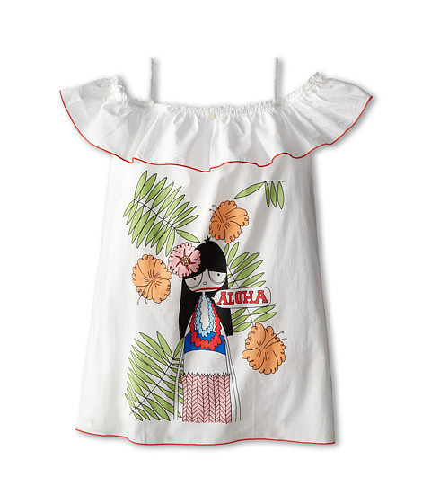 Little Marc Jacobs - Miss Marc Printed Cover (Little Kid/Big Kid) (Off White) Girl's Swimwear